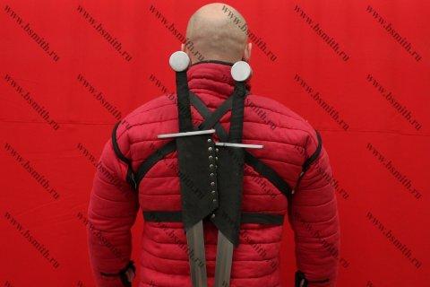 Полуножны заспинные на 2 меча, вид со спины