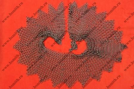 Бармица открытая сведенная, кольца 1.6х9 мм, с фестонами, фото 1