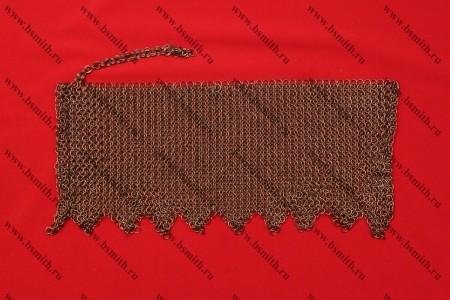 Бармица прямая с фестонами омедненная, 1.6х8 мм, фото 1