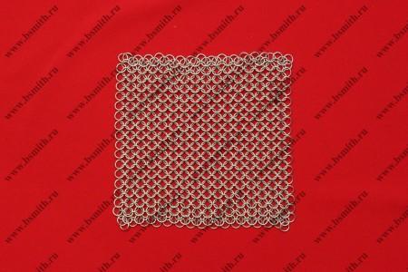 Кольчужное полотно, 20х20 см, кольца 1.6х8 мм, фото 1