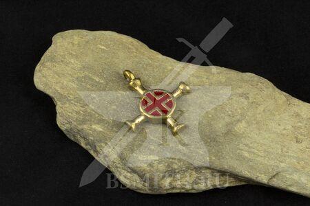 Крест нательный, вариант 2, эмаль, фото 1