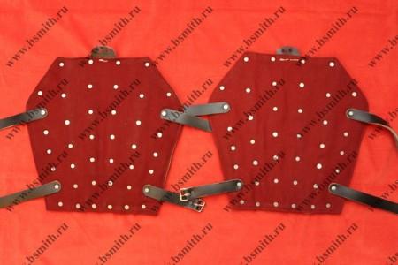 Наголенники бригандные, сукно, стальные пластины, фото 1