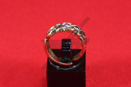 Кольцо с орнаментом в скандинавском стиле, литье, бронза, фото 1