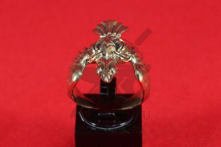 "Кольцо ""Ворон"", стилизация, бронза, фото 1"