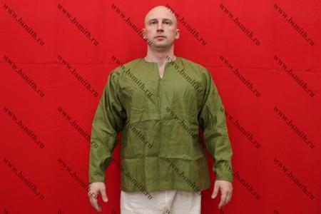Рубаха мужская, Русь, лен зеленый
