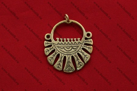 Височное кольцо десятилопастное, Вятичи