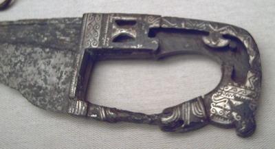 Декоративная рукоять фалькаты, 4-3вв до н.э. Almedinilla, Cordoba (M.A.N., Мадрид)